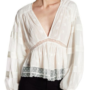 NWT Free People | Lace Nostalgic Feels Top (A1)